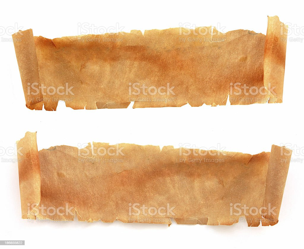 Antique Parchment Scrolls royalty-free stock photo
