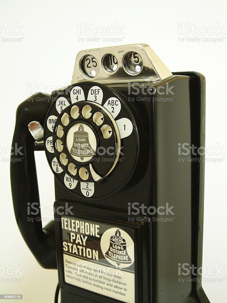 antique payphone stock photo