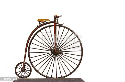 A modelo of Penny Farthing 1870 bicycle