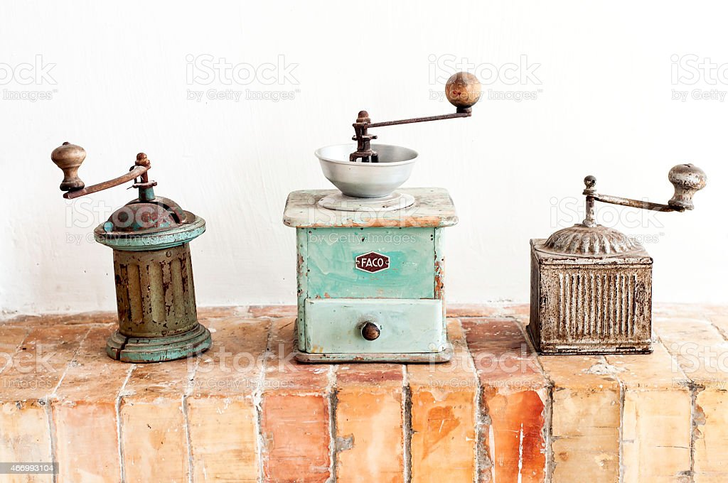 Antique Pepper Grinder / Mill stock photo