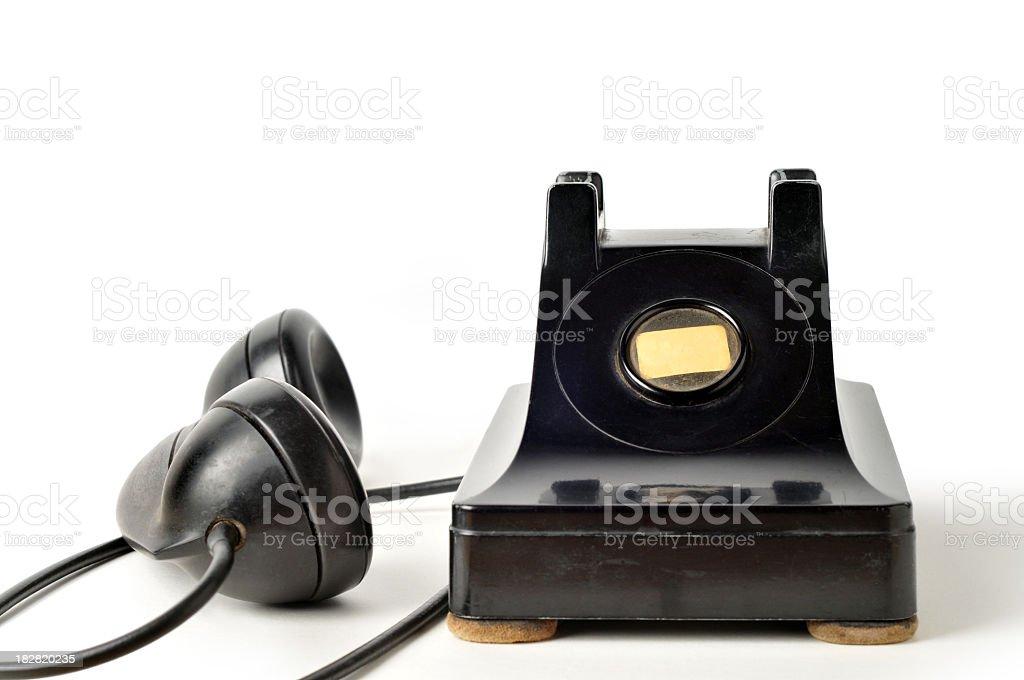 antique phone royalty-free stock photo