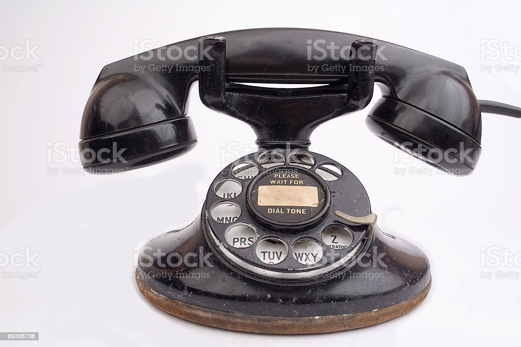 Antique phone royalty-free stock photo