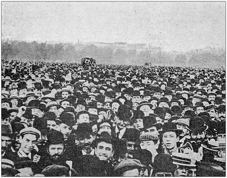 Antique photo: A lot of people