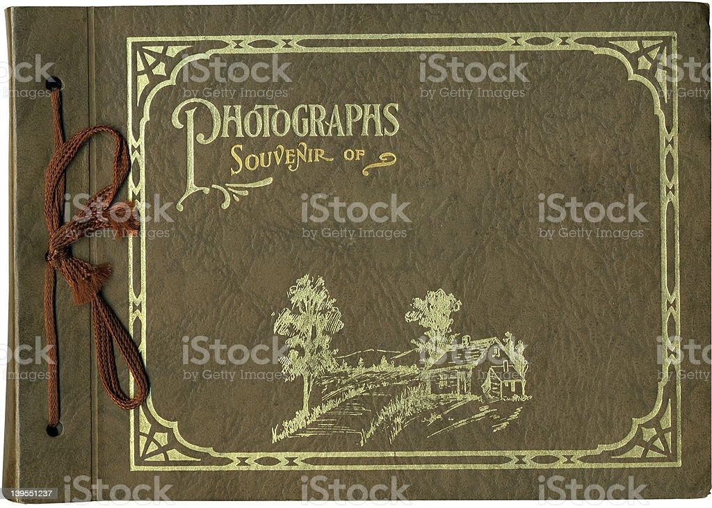 Antique Photo Album Cover royalty-free stock photo