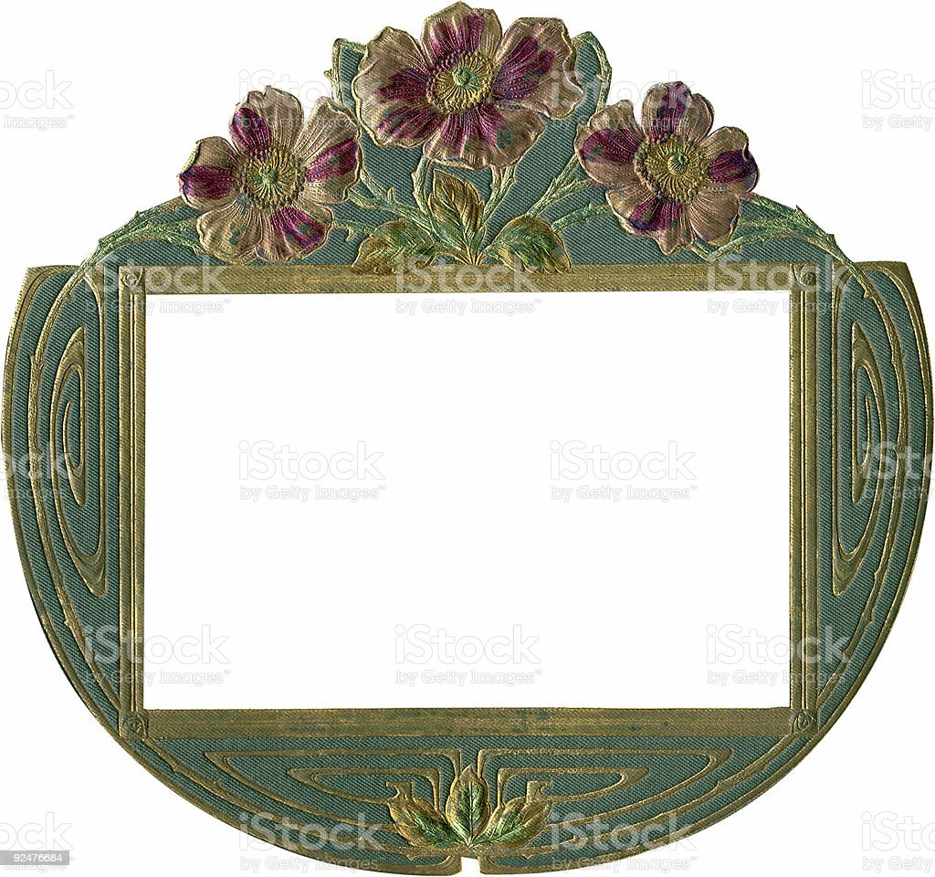 Antique photo album design royalty-free stock photo