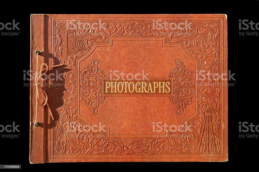 Antique Photo Album stock photo