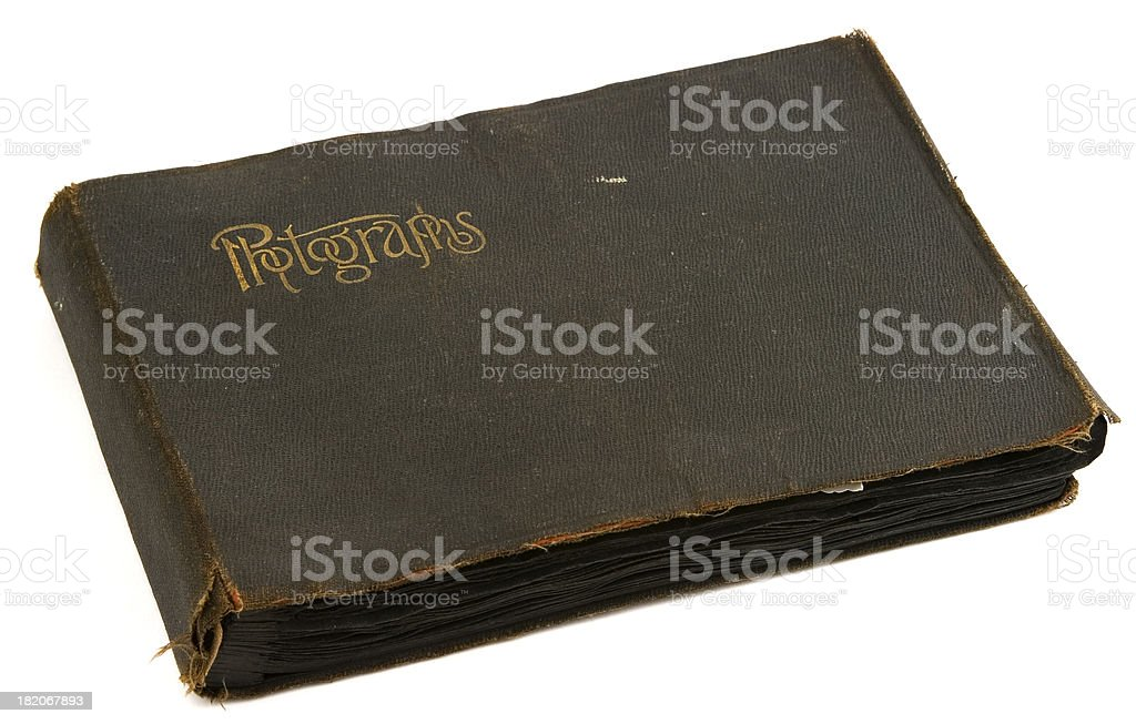 antique photo album royalty-free stock photo