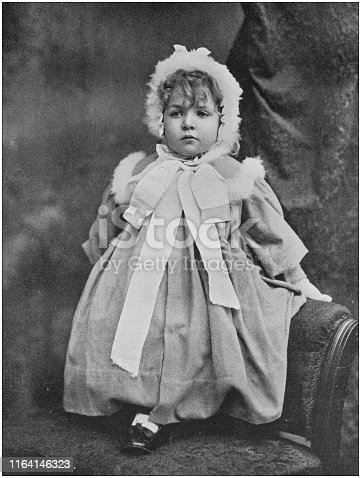 Antique photo: Baby portrait