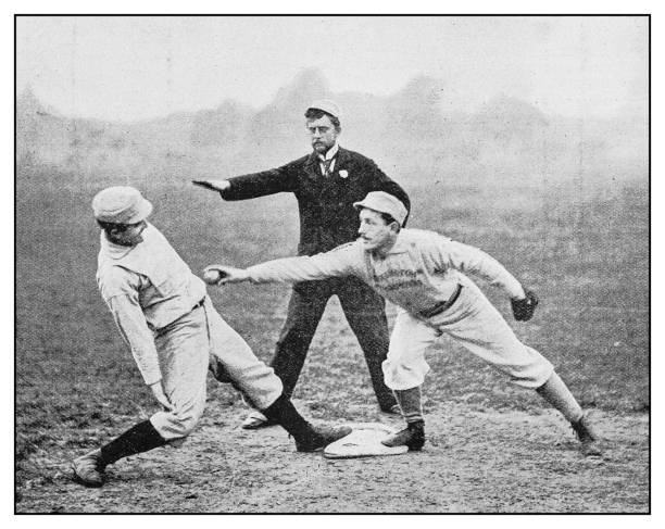 Antique photo: Baseball Antique photo: Baseball baseball sport stock pictures, royalty-free photos & images