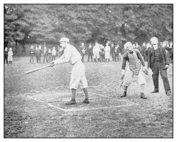 Antique photo: Baseball stock photo