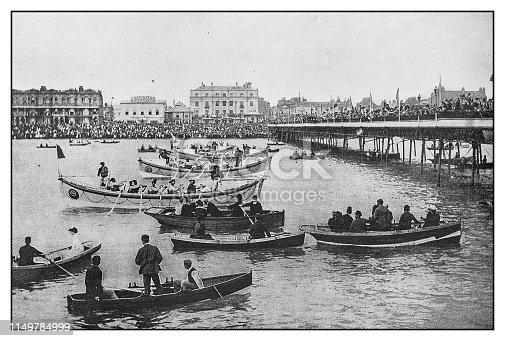 Antique photo: Boat ceremony