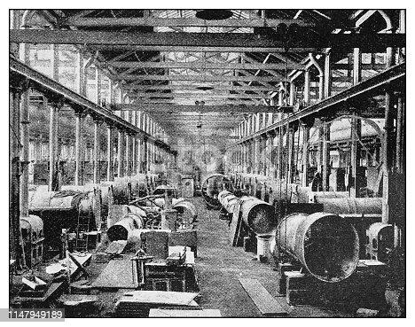 Antique photo: Boiler manufacturing
