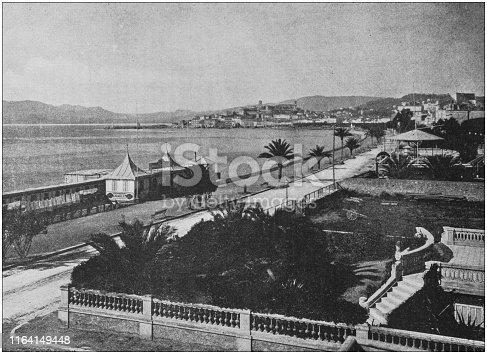 Antique photo: Boulevard de la Croisette, Cannes