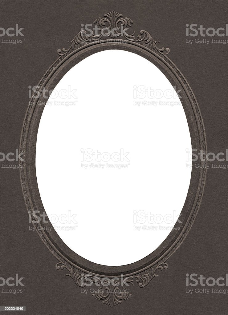 Antique photo cardboard frame stock photo