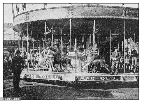 Antique photo: Country fair scenes