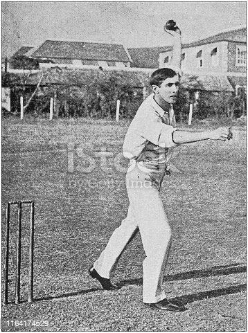 Antique photo: Cricket Player