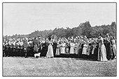 Antique photo: Czar with village school children