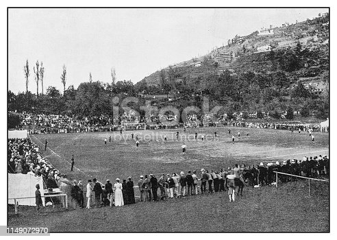 Antique photo: Durand Football Tournament at Simla