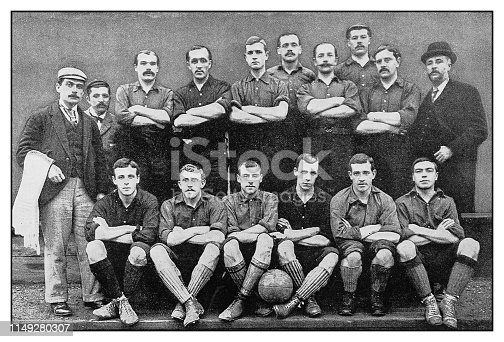 Antique photo: Football soccer team, Nottingham Forest