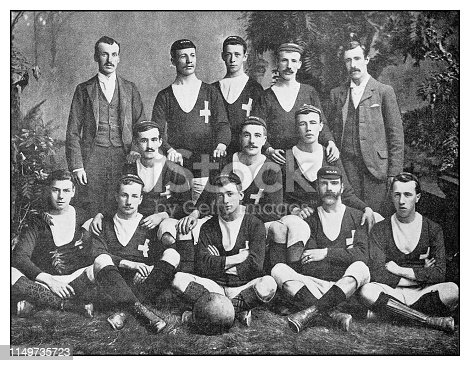 Antique photo: Football soccer team, St Andrew's Athletic Club, Newfoundland