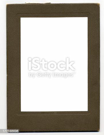 istock Antique Photo Frame, c. 1910, Felt Material 172168698