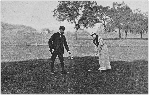 Antique photo: Golfing at Cannes