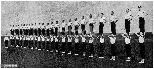 Antique photo: Gymnastic exhibition