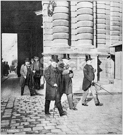 Antique photo: Henri Rochefort arriving at Haute Cour