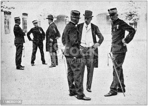 Antique photo: Important people in Rennes for Dreyfus trial