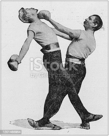 Antique photo: Kickboxing