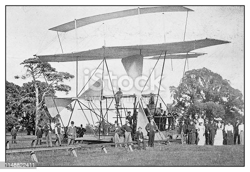 Antique photo: Maxim Flying Machine