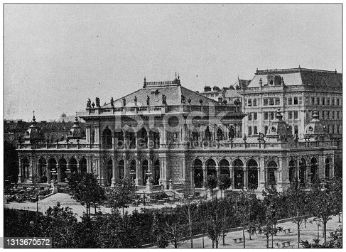 Antique photo of World's landmarks (circa 1894): Kursalon, Vienna, Austria