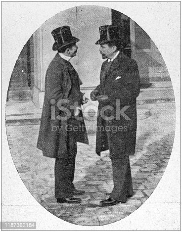 Antique photo: People outside Haute Cour