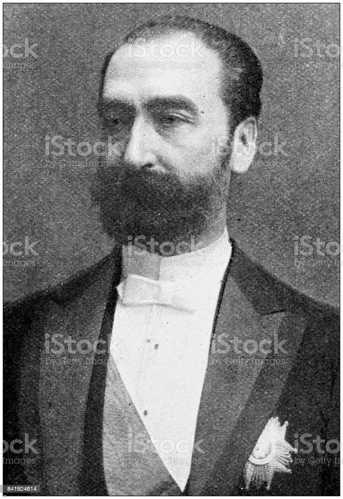 Antique photo: President Carnot of France stock photo