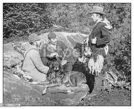 Antique photo: Ptarmigan Shooting in Sweden