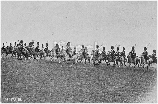 Antique photo: Scots Greys Cavalry