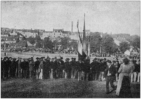 Antique photo: Strike in Le Creusot