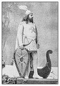 Antique photo: Theatre actor