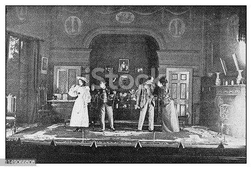 Antique photo: Theatre play