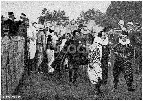 Antique photo: Traditional parade