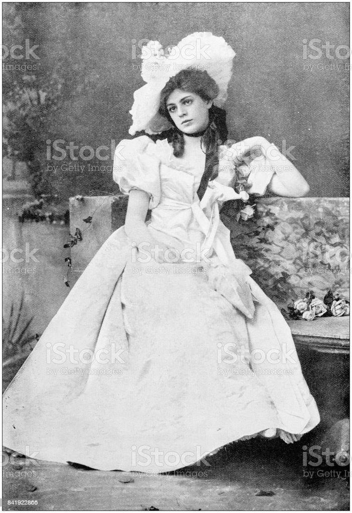 Antikes Foto: Frau – Foto
