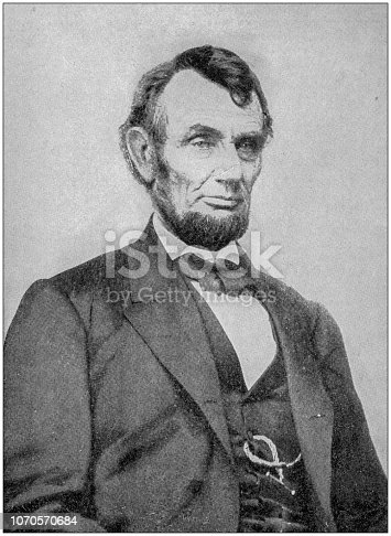 Antique photograph: Abraham Lincoln
