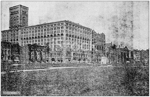 Antique photograph: Auditorium Hotel, Chicago