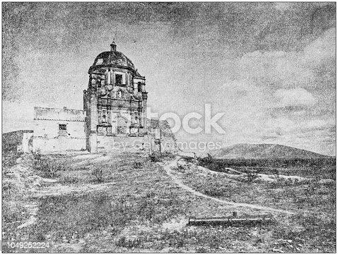 Antique photograph: Bishop's Palace, Monterey, Mexico