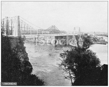 Antique photograph: Bridges, St Jean, New Brunswick