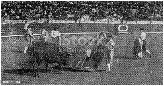 Antique photograph: Bullfight in Spain