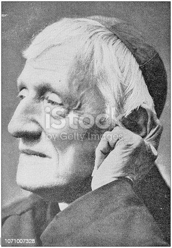 Antique photograph: Cardinal John Henry Newman