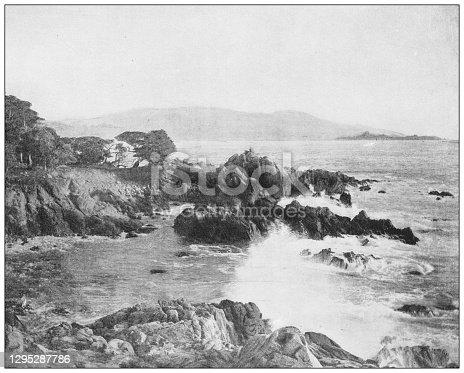 Antique photograph: Carmel Bay, California
