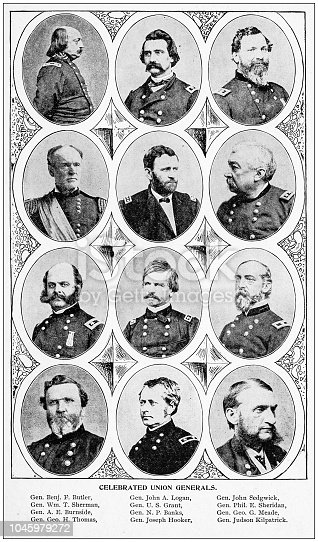 Antique photograph: Celebrated Union Generals
