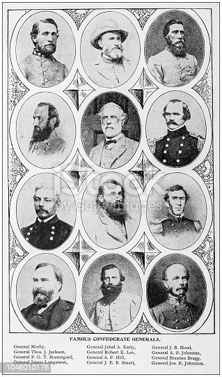 Antique photograph: Confederate Generals